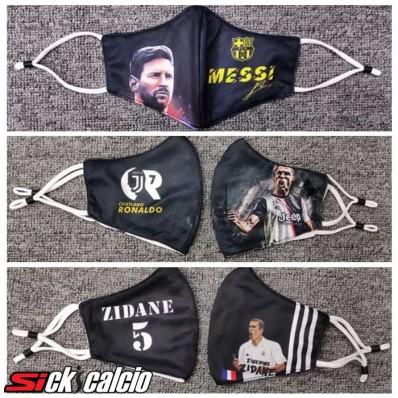 Filtri Per 3 Pezzi Messi/Ronaldo/Zidane Mascherine Antipolvere FFP2