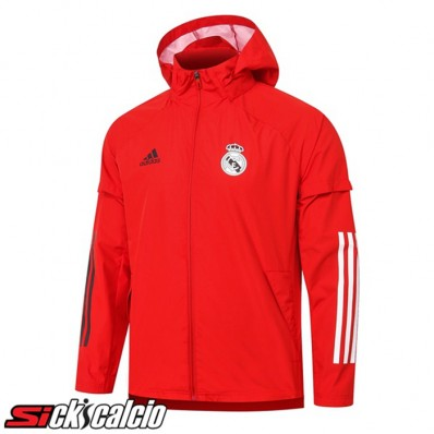Giacca A Vento Real Madrid Rosso 2020/2021