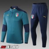 Insieme Tuta Calcio Italia Bambino Verde 2020/2021