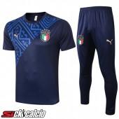 Kit Maglia Allenamento Italia + Pantaloni Blu Reale 2020/2021