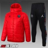 Piumino Calcio PSG Jordan Rosso + Pantaloni 2020/2021