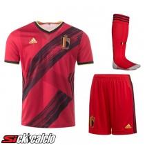 Kit Maglie Calcio Belgio Prima (Pantaloncini+Calzettoni) 2020/2021